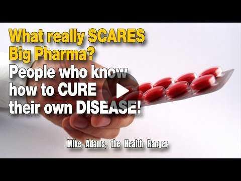 What really SCARES Big Pharma? People who know how to CURE their own DISEASE!