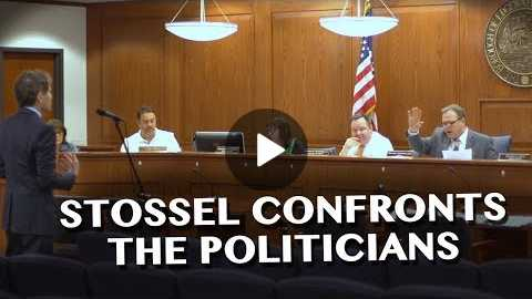 Stossel Confronts Politicians about Corruption Allegations