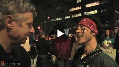 Gov. Gary Johnson Among the Occupy Wall Street Protesters