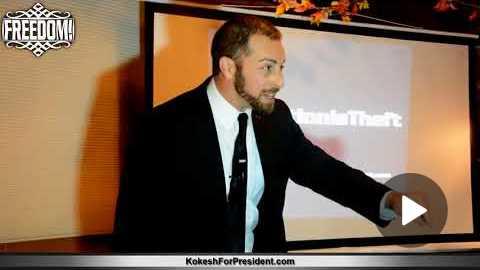 Koshesh For President #TaxationIsTheft Tour Speech