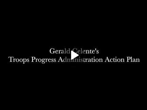 Gerald Celentes Troops Progress Administration Plan